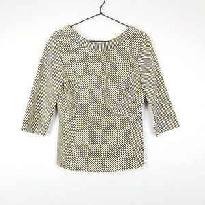 Boden Mia Structured 3/4 Sleeve Top Size 10